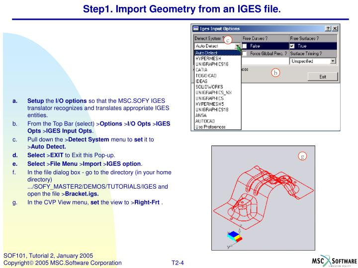 Step1. Import Geometry from an IGES file