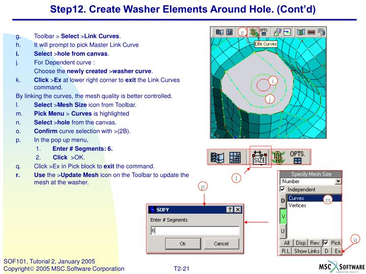 Step12. Create Washer Elements Around Hole. (Cont'd)