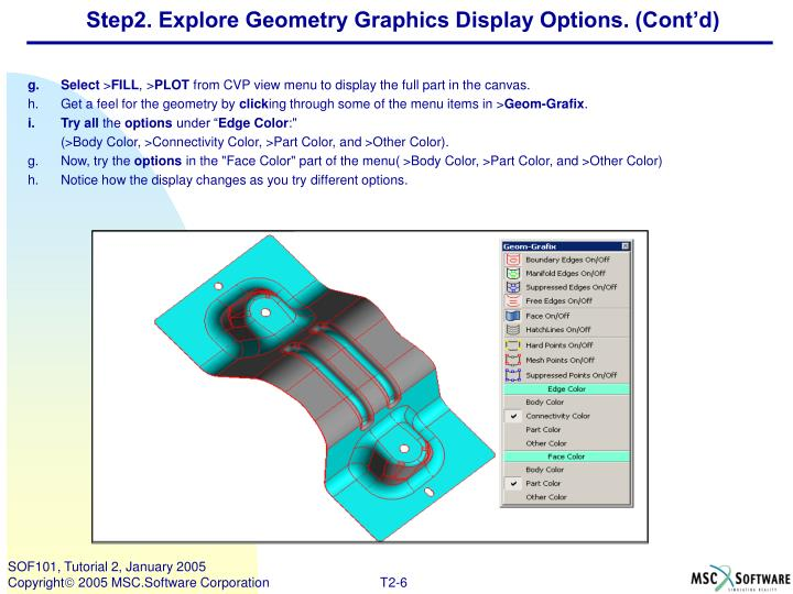 Step2. Explore Geometry Graphics Display Options. (Cont'd)