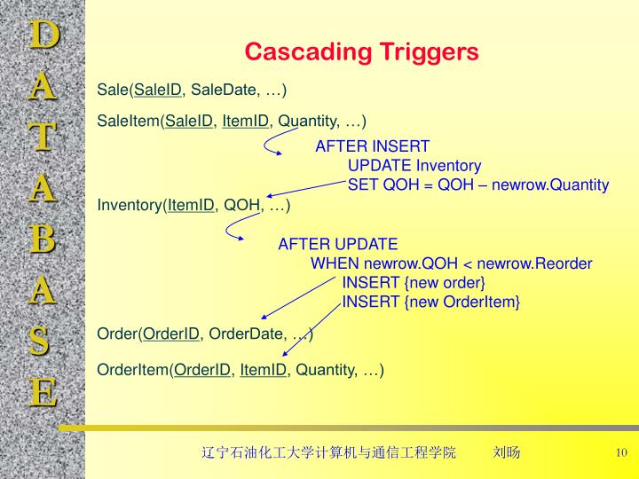 Cascading Triggers