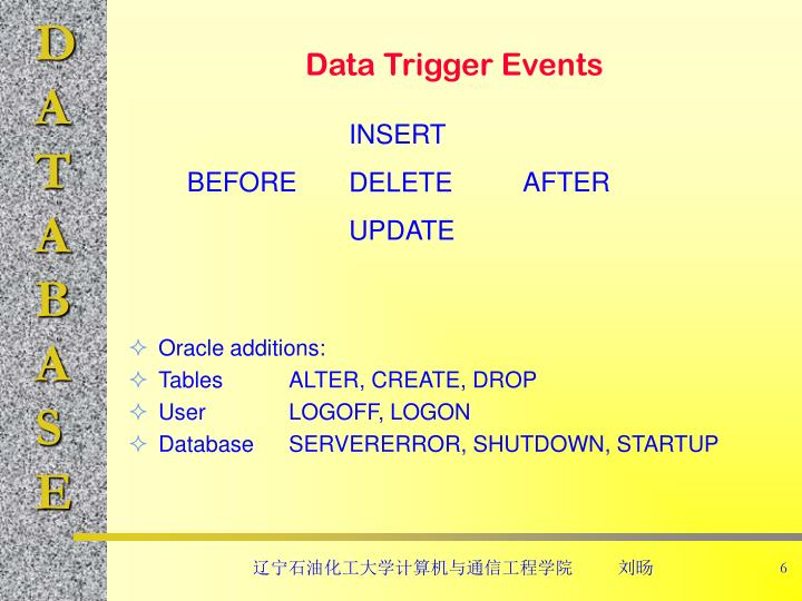 Data Trigger Events