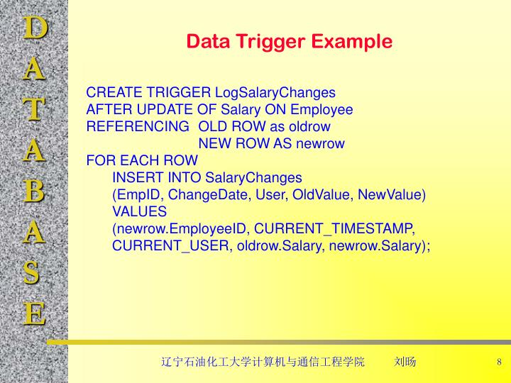Data Trigger Example