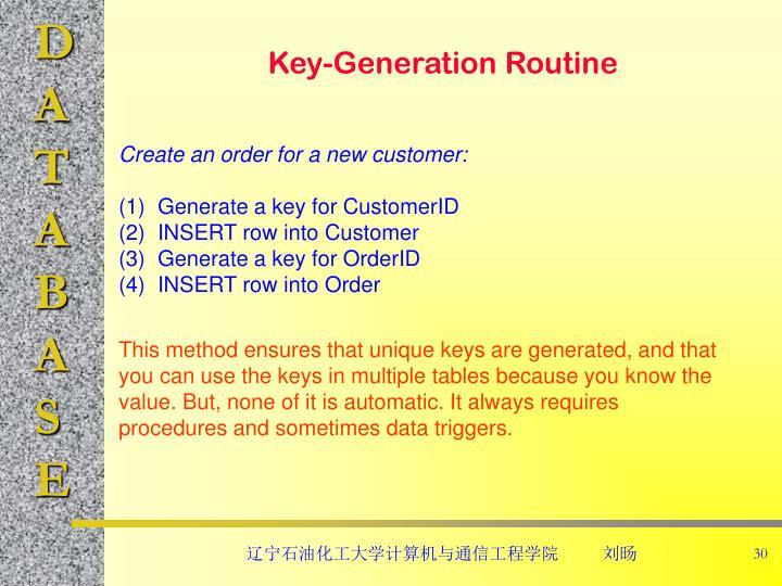Key-Generation Routine