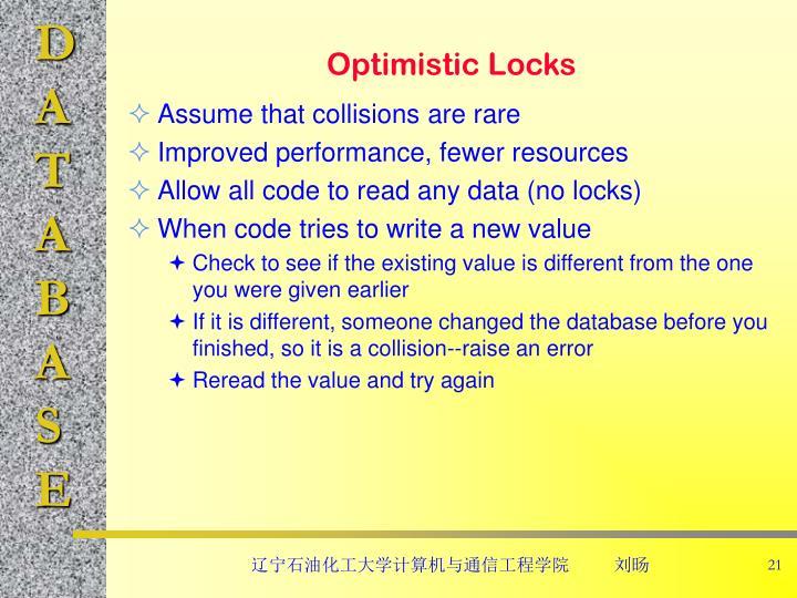 Optimistic Locks