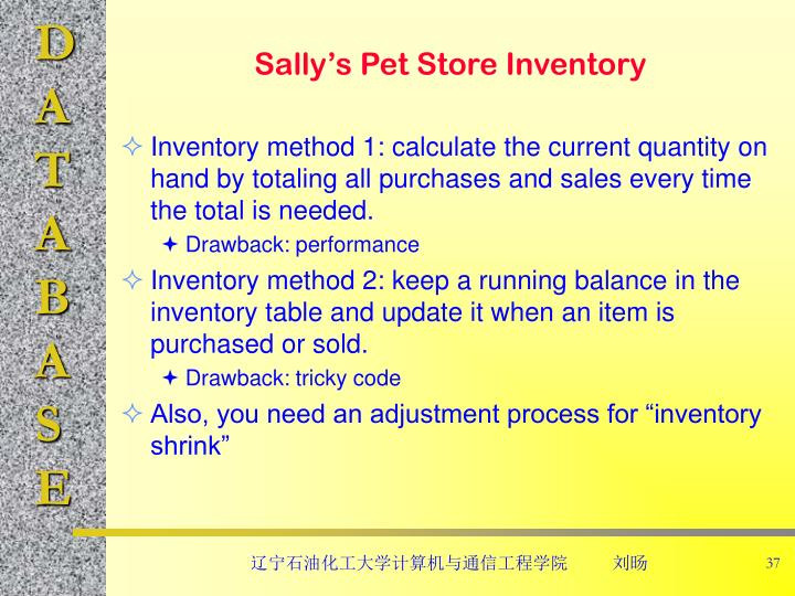Sally's Pet Store Inventory