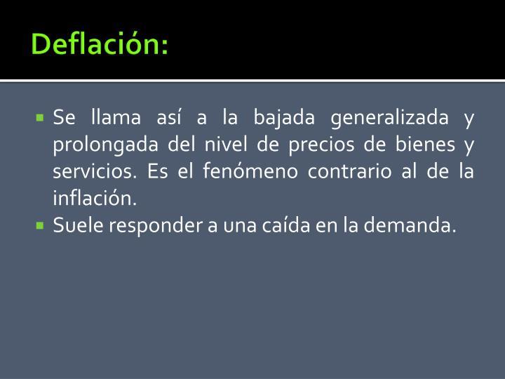 Deflación: