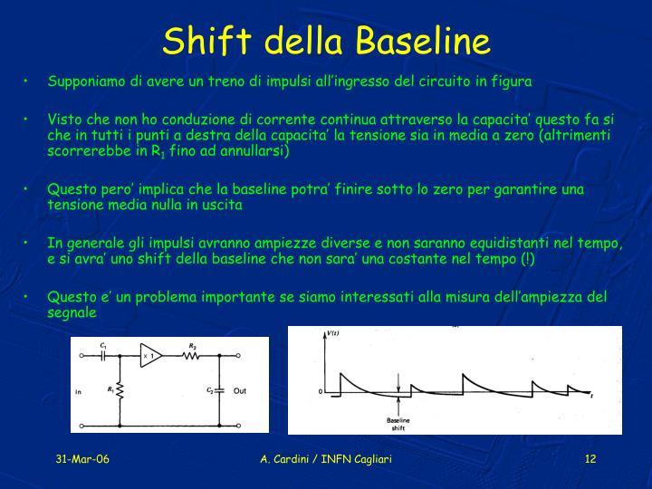 Shift della Baseline