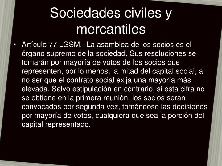 Sociedades civiles y mercantiles