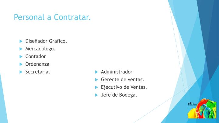 Personal a Contratar.