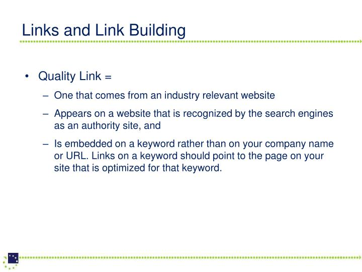 Links and Link Building