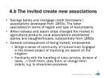 4 b the invited create new associations