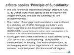 c state applies principle of subsidiarity