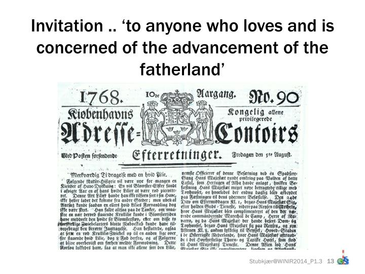 Invitation .. 'to