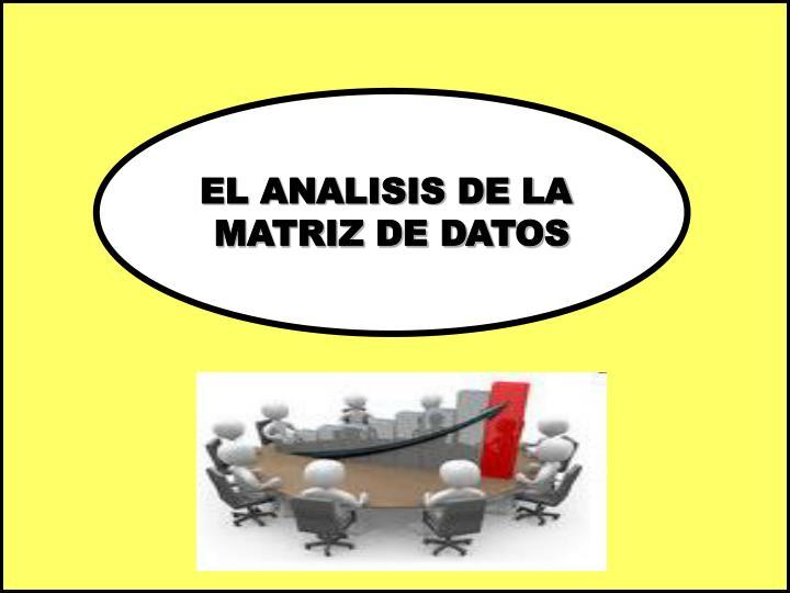 EL ANALISIS DE LA