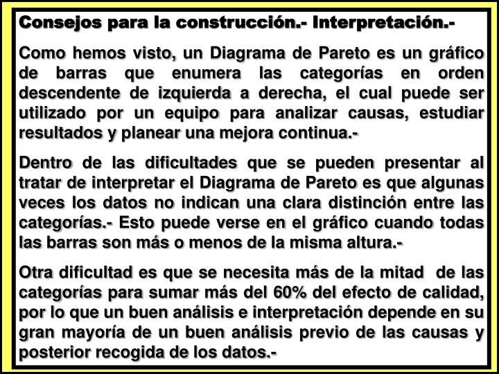 Consejos para la construcción.- Interpretación.-
