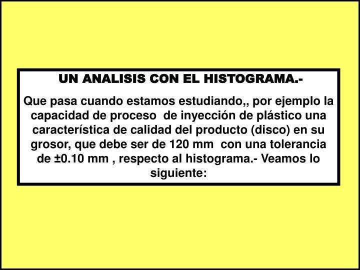 UN ANALISIS CON EL HISTOGRAMA.-
