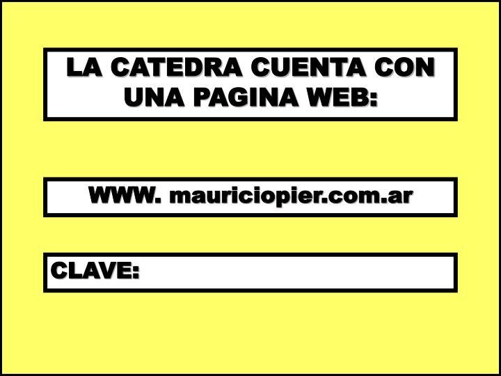 LA CATEDRA CUENTA CON UNA PAGINA WEB: