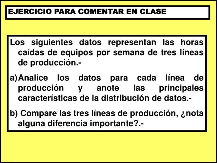 EJERCICIO PARA COMENTAR EN CLASE