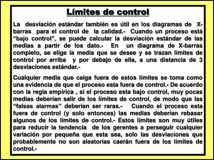 Límites de control