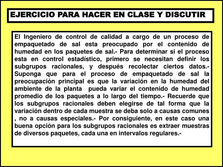 EJERCICIO PARA HACER EN CLASE Y DISCUTIR