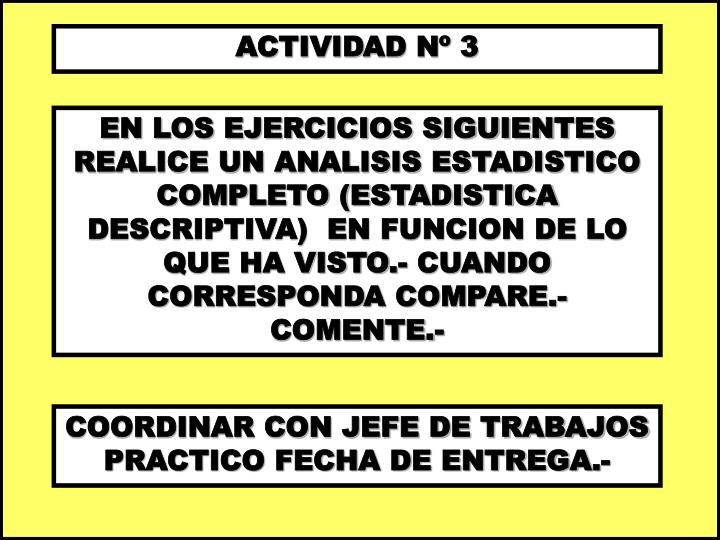 ACTIVIDAD Nº 3