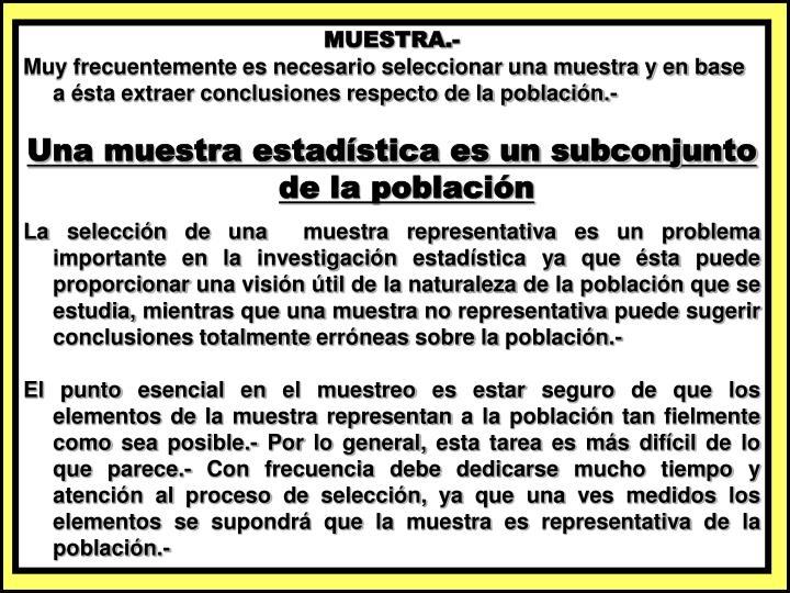 MUESTRA.-
