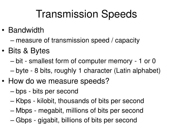 Transmission Speeds