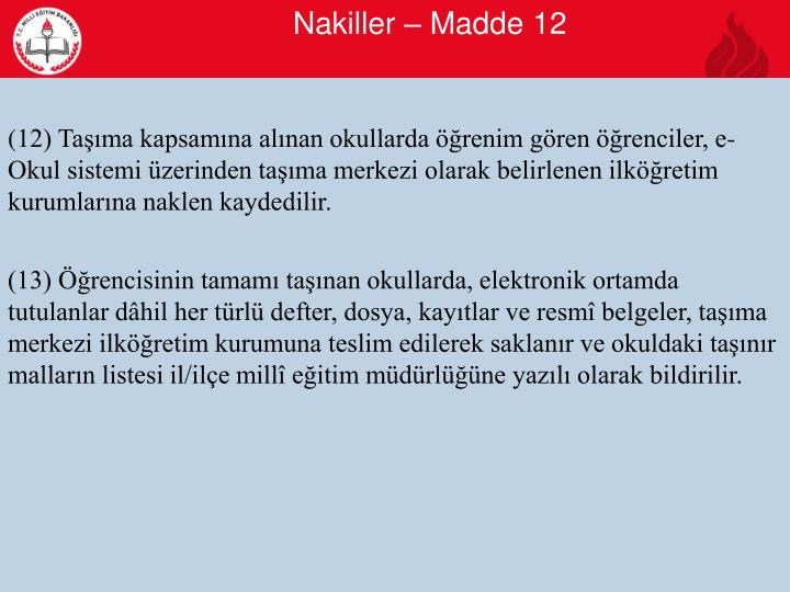 Nakiller – Madde 12