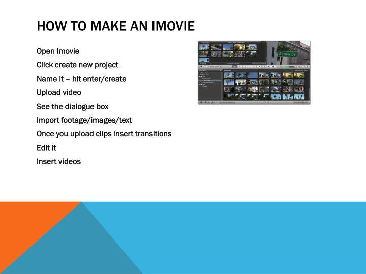 How to make an iMovie