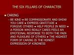 the six pillars of character4