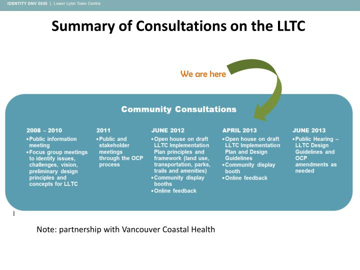 Summary of Consultations on the LLTC