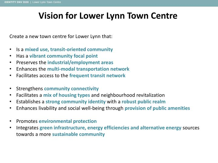 Vision for Lower Lynn Town Centre