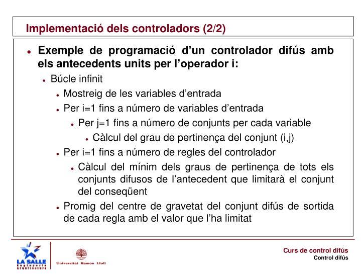 Implementació dels controladors (2/2)