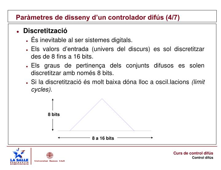 Paràmetres de disseny d'un controlador difús (4/7)