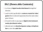 dlc down able contents