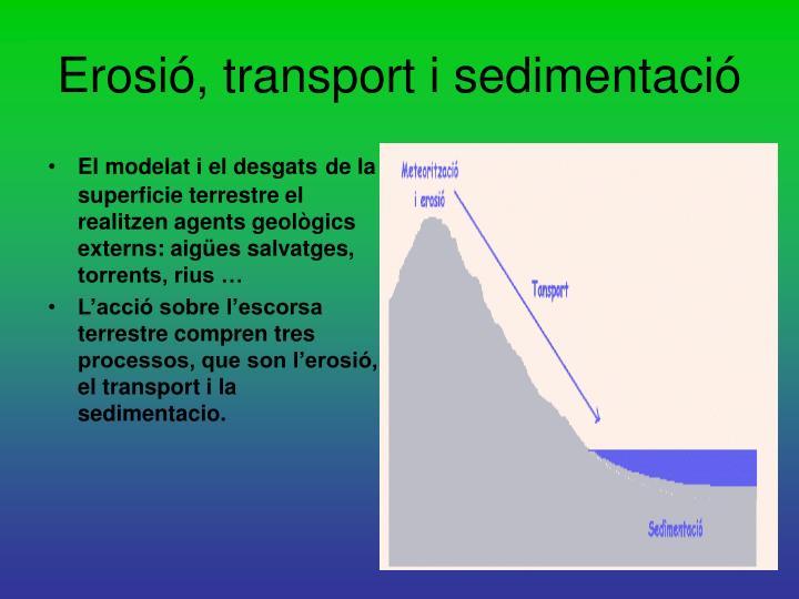 Erosió, transport i sedimentació