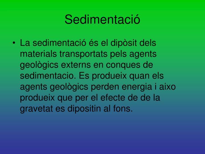 Sedimentació