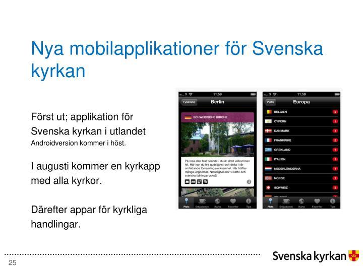 Nya mobilapplikationer för Svenska kyrkan