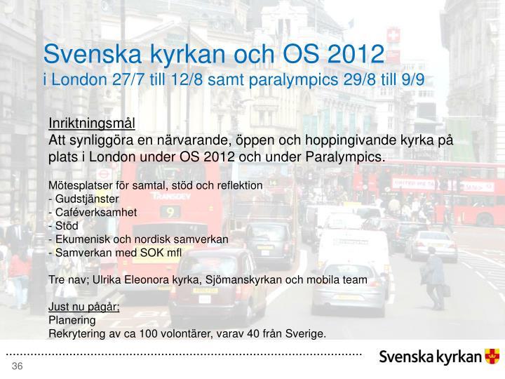 Svenska kyrkan och OS 2012