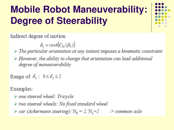 Mobile Robot Maneuverability: Degree of Steerability