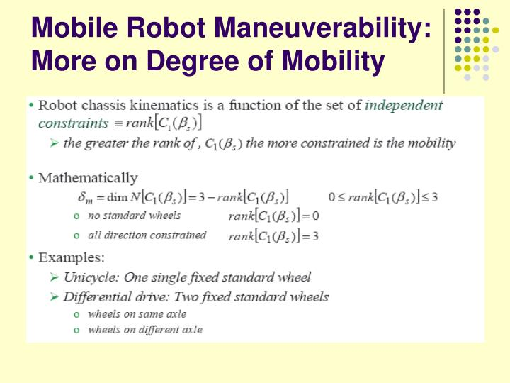 Mobile Robot Maneuverability: More on Degree of Mobility