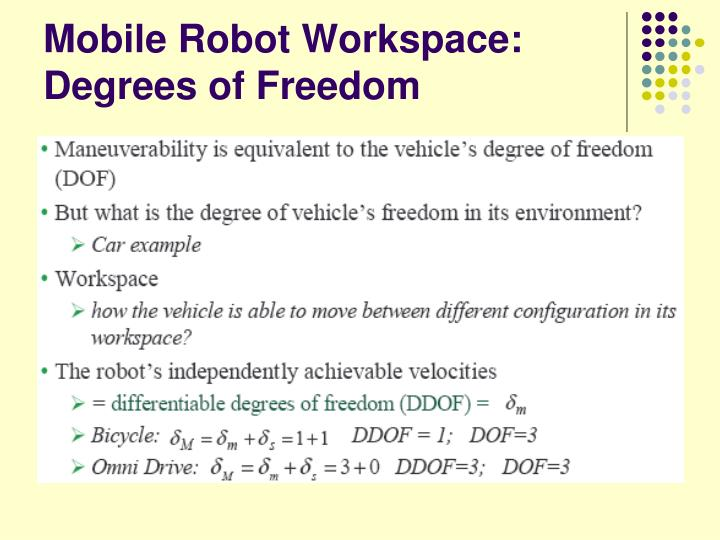 Mobile Robot Workspace: Degrees of Freedom
