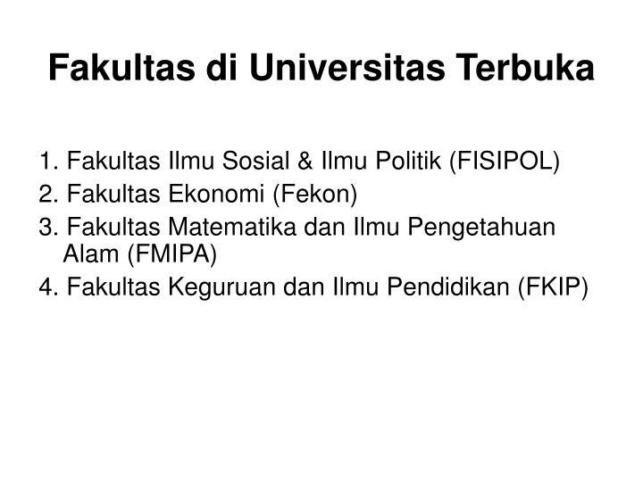 Fakultas di Universitas Terbuka