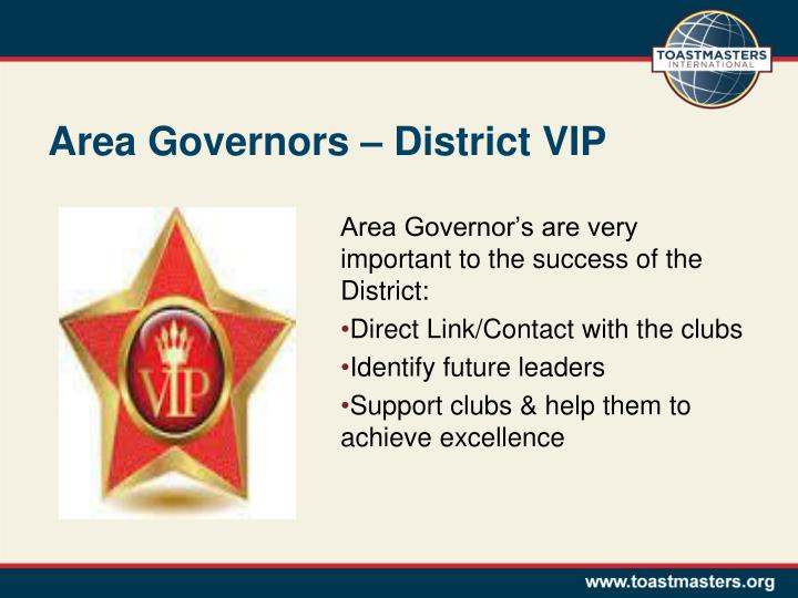 Area governors district vip
