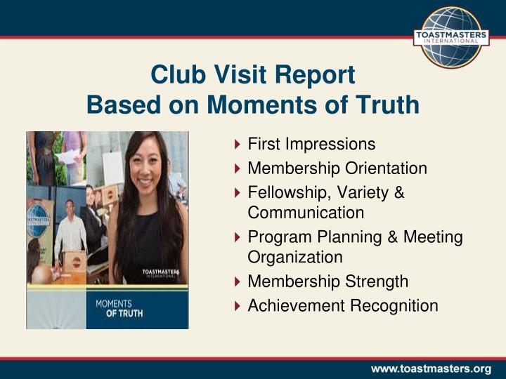 Club Visit Report