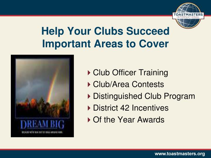 Help Your Clubs Succeed