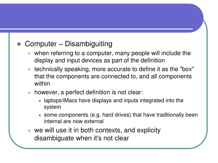 Computer – Disambiguiting