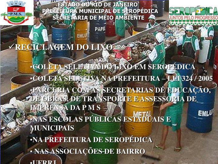 ESTADO DO RIO DE JANEIRO