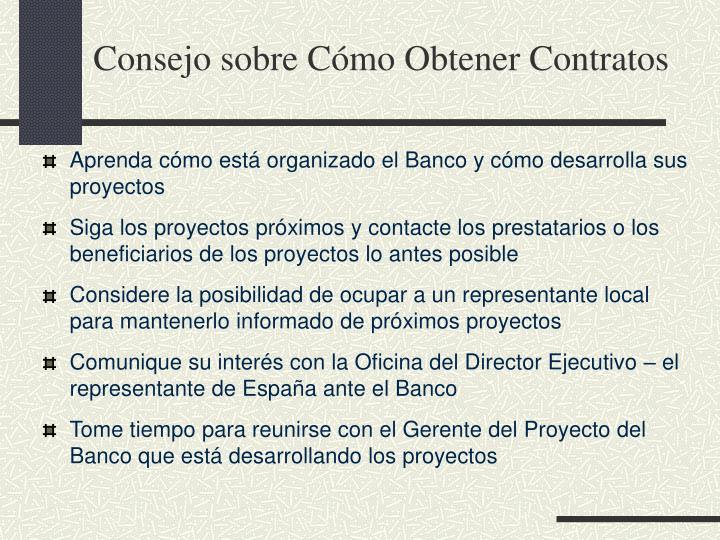 Consejo sobre Cómo Obtener Contratos
