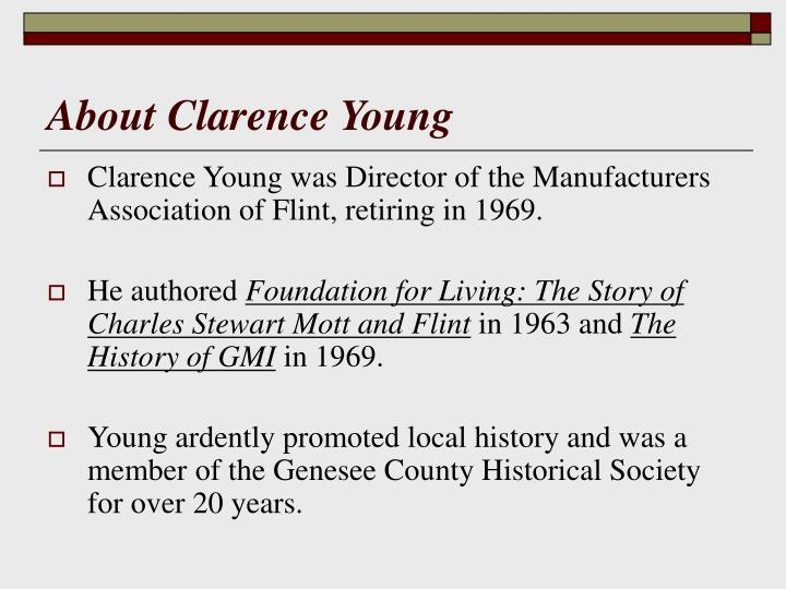 About Clarence Young